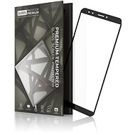 Tempered Glass Protector Frame for Huawei Y7 Prime (2018) Black - Glass protector