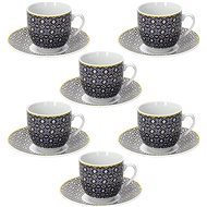 Tognana Set of 6 Coffee Cups 80ml with Saucers MADISON SIRACUSA - Cup & Saucer Set