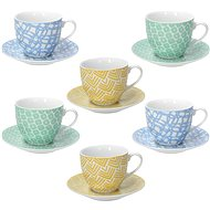 Tognana MADISON HAPPINESS Set of 6 Tea Cups 200ml with Saucers - Cup & Saucer Set