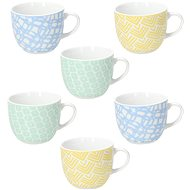 Tognana MADISON HAPPINESS Set of Coffee Cups and Saucers 6 pcs 80ml - Coffee Cups