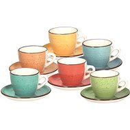 Tognana Set of 6 Cups with Saucers 90ml LOUISE ART & PEPPER - Cup & Saucer Set