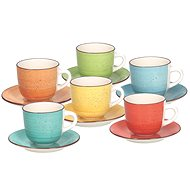 Tognana Set of 6 cups with saucers 250ml LOUISE ART & PEPPER - Cup & Saucer Set