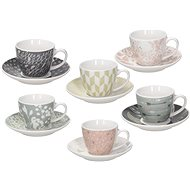 Tognana IRIS ALICIA Coffee Cup Set with Saucers, 80ml