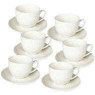 Tognana Set of Coffee Cups with Saucers, 85ml, PERLA BIANCO - Cup & Saucer Set