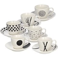 Tognana GRAPHIC Set of Espresso Cups with Saucers 80ml 6pcs - Coffee Cups