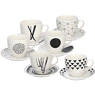 Tognana GRAPHIC Set of Tea Cups with Saucers 200ml 6pcs - Cup & Saucer Set
