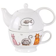 Toro 470ml Teapot with Cup, Cat motif - Tea For One