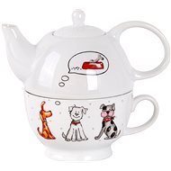 Toro 470ml Teapot with Cup, Dog Motif - Tea For One