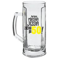 BEER GLASS - THE RIDE BEGINS AFTER 50!, 500 ML - Beer Glass