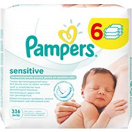 PAMPERS Wipes Sensitive (6 x 56 pieces) - Wet Wipes