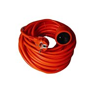 Solight Extension Cable, 1 socket, orange, 20m - Extension Cord