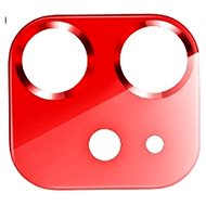 USAMS US-BH703 Metal Camera Lens Glass Film for iPhone 12 Red - Glass Protector