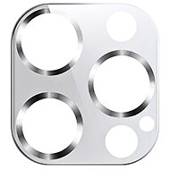 USAMS US-BH707 Metal Camera Lens Glass Film for iPhone 12 Pro Max Silver - Glass Protector