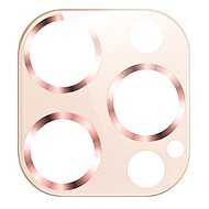 USAMS US-BH707 Metal Camera Lens Glass Film for iPhone 12 Pro Max Gold - Glass Protector