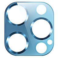 USAMS US-BH707 Metal Camera Lens Glass Film for iPhone 12 Pro Max Blue - Glass Protector