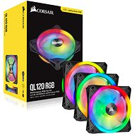 Corsair iCUE QL120 RGB 120mm PWM Triple Fan + Lighting Node CORE - PC Fan