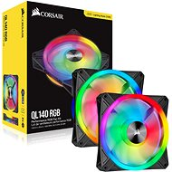 Corsair iCUE QL140 RGB 140mm PWM Dual Fan Kit + Lighting Node CORE - PC Fan