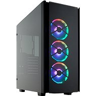 Corsair 500D RGB SE Obsidian Series black with transparent sidewall - PC Case
