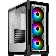 Corsair iCUE 220T RGB Tempered Front Glass, White - PC Case