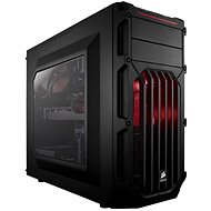 Corsair SPEC-03 Red LED Carbide Series black with transparent side panel - PC Case