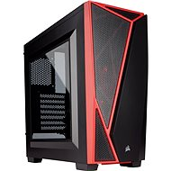 Corsair SPEC-04 Black/Red Carbide Series red/black with transparent side panel - PC Case