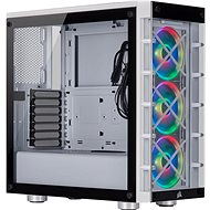 Corsair iCUE 465X RGB Tempered Glass, White - PC Case