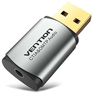 Vention USB External Sound Card Grey Metal Type (OMTP-CTIA) - Sound card