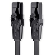 Vention Flat CAT6 UTP Patch Cord Cable, 0.75m, Black - Network Cable