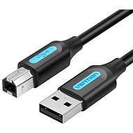 Vention USB 2.0 Male to USB-B Male Printer Cable 1M Black PVC Type - Data Cable