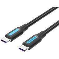 Vention Type-C (USB-C) 2.0 (M) to USB-C (M) 100W / 5A Cable 0.5M Black PVC Type - Data Cable