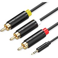 Vention 3.5mm Jack to 3x RCA AV Cable 2m Black - Video Cable