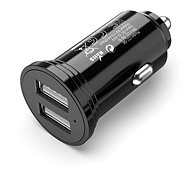 Vention Smart 2-Port USB Car Charger 17W (2x 2.4A) Black Mini Style - Charger