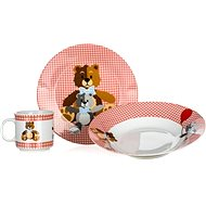 BANQUET Children's 3 Piece Set Bears RED A11867