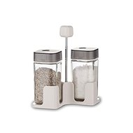 BANQUET Set of salt and pepper QUADRA 100ml, 3pcs, grey