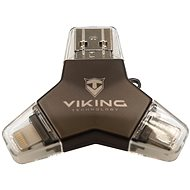 Viking USB Flash Drive 3.0 4v1 128GB Black - USB Flash Drive
