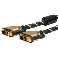 ROLINE Gold DVI dual link, ferrites, 7.5m - Video Cable