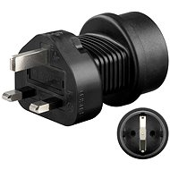 Goobay UK/EU Plug Adapter Black - Travel Power Adapter