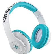 Gogen HBTM 42 STREET B White and Blue - Headphones with Mic