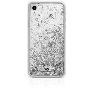 White Diamonds Sparkle for Apple iPhone XR - Silver Stars - Mobile Phone Case