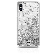 White Diamonds Sparkle for Apple iPhone XS / X - Silver Stars - Mobile Phone Case