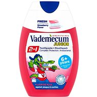 VADEMECUM Junior 2v1 Toothpaste + Mouthwash Strawberry Flavor 75 ml - Whitening Toothpaste