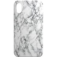 AlzaGuard - Apple iPhone X/XS - White Marble - Mobile Case