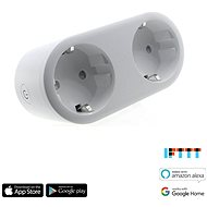 iQ-Tech SmartLife WS017, Wi-Fi 2x sockets, 16A - Smart Socket