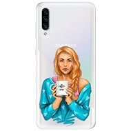 iSaprio Coffee Now - Redhead for Samsung Galaxy A30s - Mobile Case