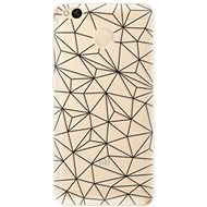 iSaprio Abstract Triangles 03 - Black for Xiaomi Redmi 4X - Mobile Case