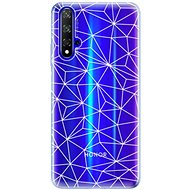 iSaprio Abstract Triangles 03 - White for Honor 20 - Mobile Case