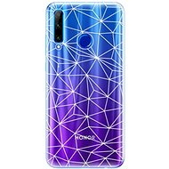 iSaprio Abstract Triangles 03 - White for Honor 20 Lite - Mobile Case