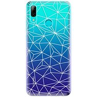 iSaprio Abstract Triangles 03 - White for Huawei P Smart 2019 - Mobile Case
