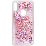 iWill Glitter Liquid Heart Case for HUAWEI Y6 (2019) Pink - Mobile Case