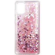 Mobile Case iWill Glitter Liquid Heart Case for Samsung Galaxy A31 Pink - Kryt na mobil